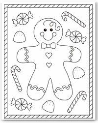 free christmas color pages # 11