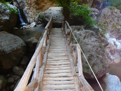 Bridges and bundge jump on Crete