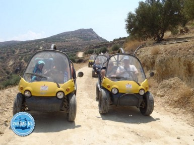 Driving jeeps off road Crete