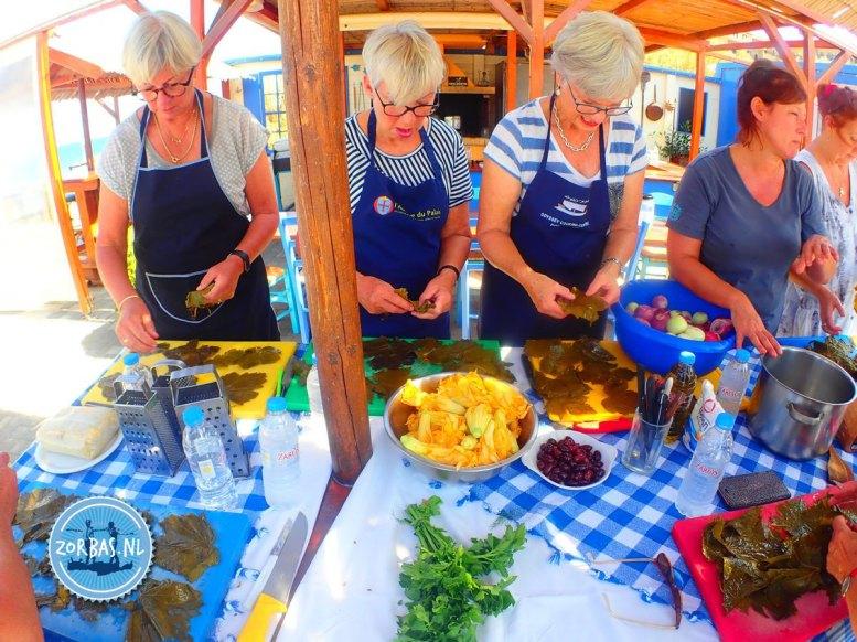 Learning to cook Cretan food
