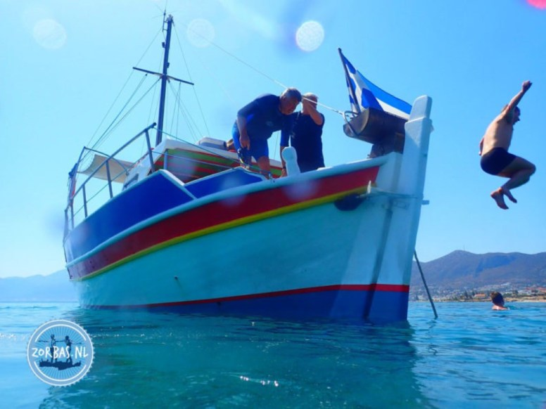 Boat trip snorkeling swimming Greece