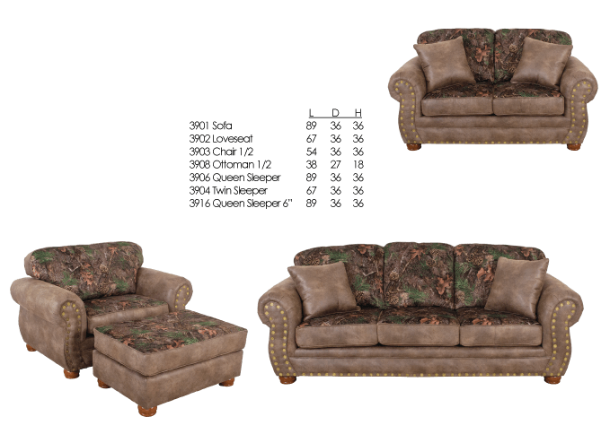 Excellent 3900 Sofa Love Chair Camo Holiday Shores Wisconsin Dells Theyellowbook Wood Chair Design Ideas Theyellowbookinfo
