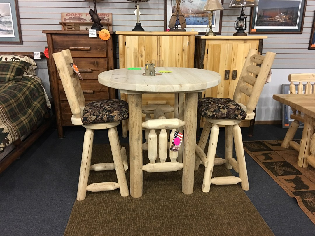 holiday-furnishings-wood-round-dining-table-chair