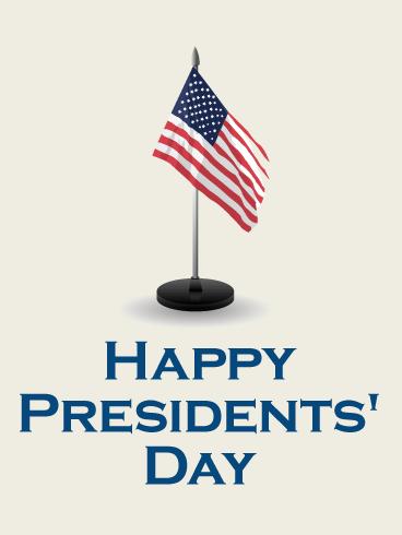 U S Flag Presidents Day Card Birthday Amp Greeting
