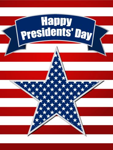Happy Presidents Day Star Card Birthday Amp Greeting