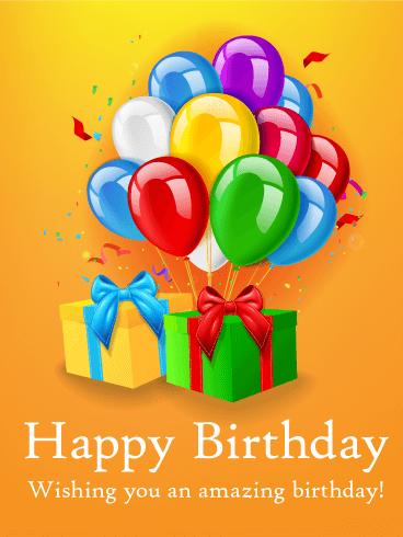 Birthday Balloon Bouquet Card Birthday Amp Greeting Cards