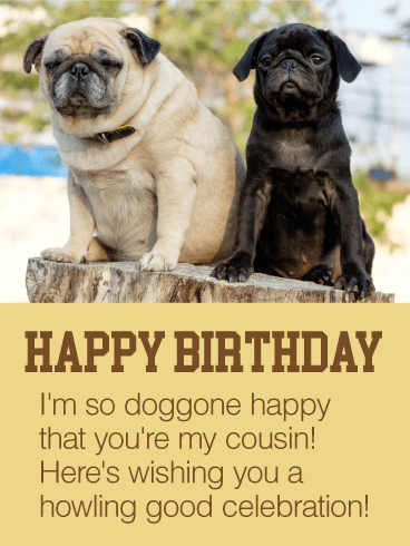 Happy To Have You As My Cousin Happy Birthday Card Birthday Amp Greeting Cards By Davia