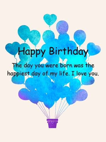 Mommys Boy Birthday Balloon Card For Son Birthday Amp Greeting Cards By Davia