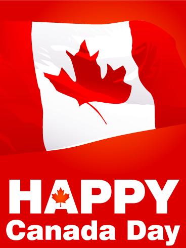 Waving Canadian Flag Canada Day Card Birthday Amp Greeting