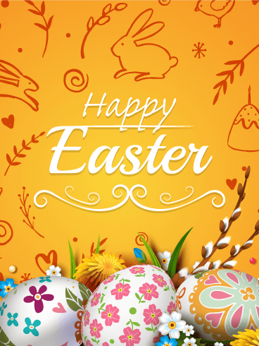 Charming Happy Easter Card Birthday Amp Greeting Cards By Davia