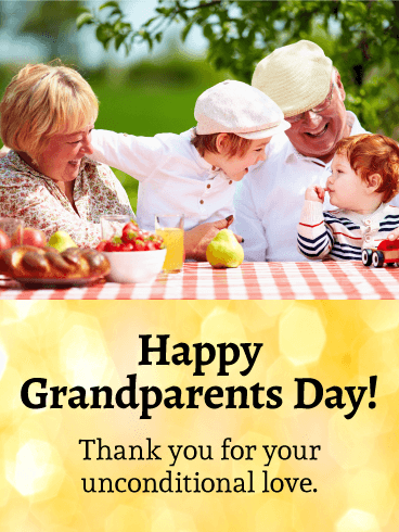 Happy Moments Grandparents Day Card Birthday Amp Greeting