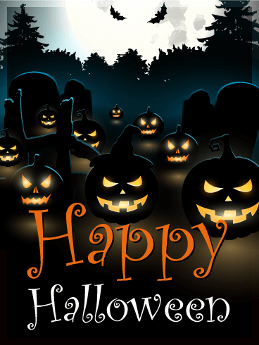Dark Halloween Pumpkin Card Birthday Amp Greeting Cards By