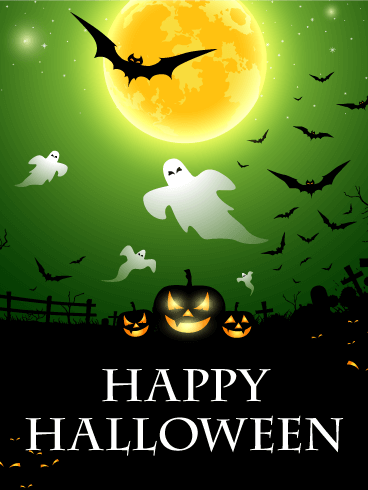 Scary Night Halloween Card Birthday Amp Greeting Cards By