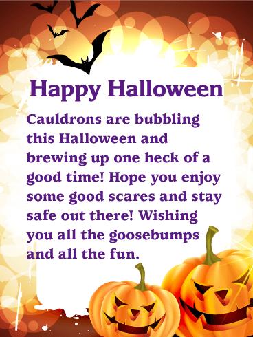 Wishing You All The Goosebumps Happy Halloween Card