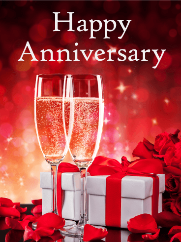 Cheers To The Special Day Happy Anniversary Card