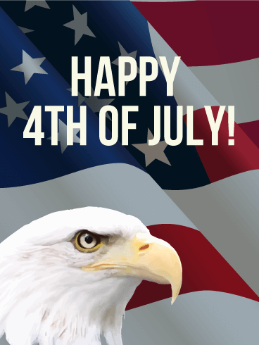 4th Of July Eagle Card Birthday Amp Greeting Cards By Davia