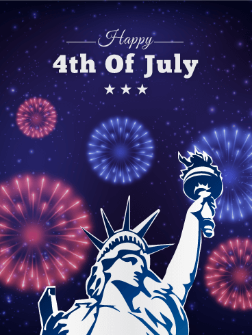 4th Of July Fireworks Card Birthday Amp Greeting Cards By