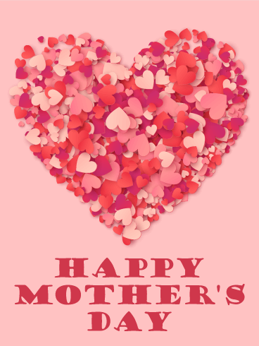 A Big Heart Happy Mothers Day Card Birthday Amp Greeting