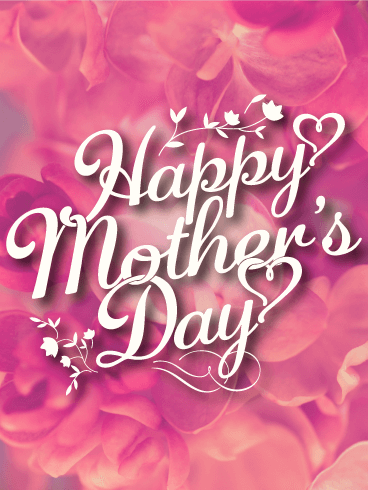 Pink Flower Happy Mothers Day Card Birthday Amp Greeting