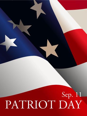 Patriot Day Waving Flag Card Birthday Amp Greeting Cards