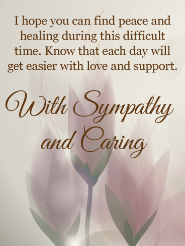 Each Day Will Get Easier Sympathy Card Birthday Amp Greeting Cards By Davia
