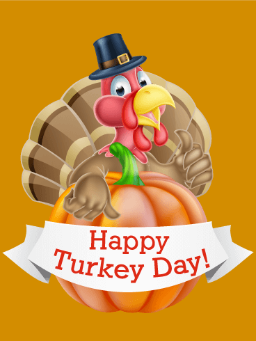 Smiling Turkey Thanksgiving Card Birthday Amp Greeting