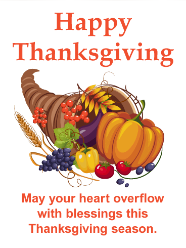 Thanksgiving Cornucopia Card Birthday Amp Greeting Cards