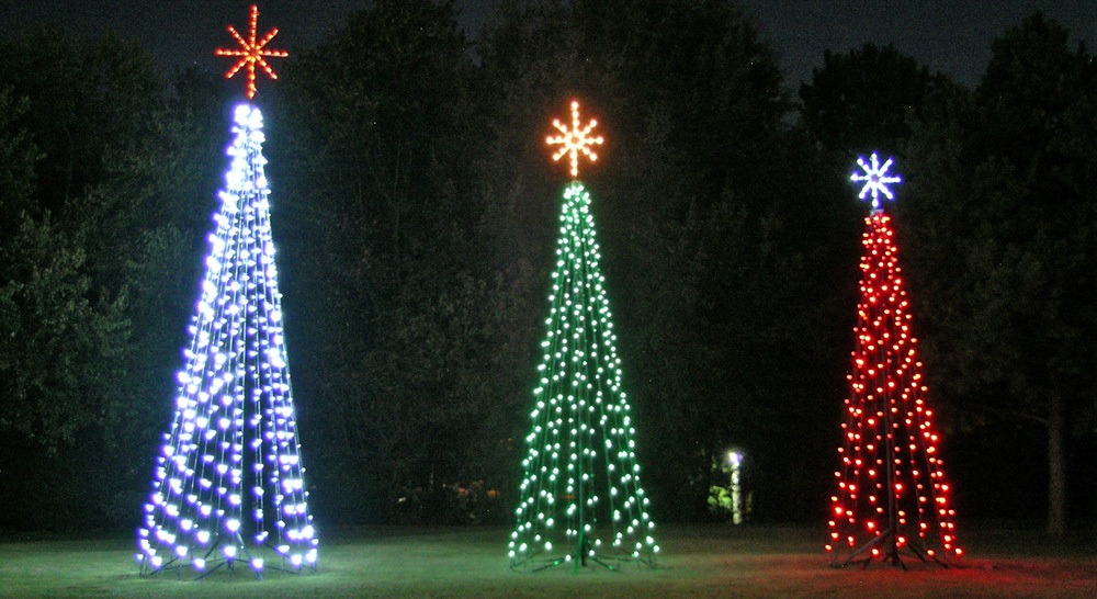 Commercial Christmas Trees for Downtowns, Light Shows and Parks