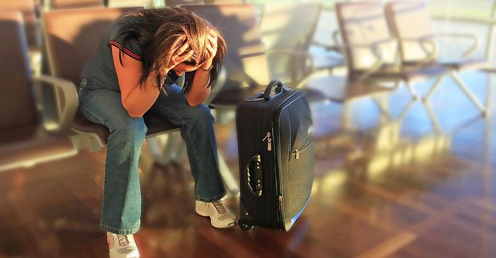 Depressed traveller