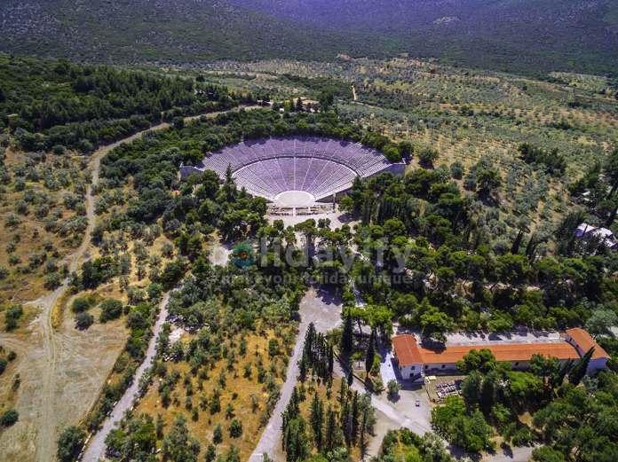 Epidaurus Antik Tiyatrosu, Mora Yarımadası, Yunanistan