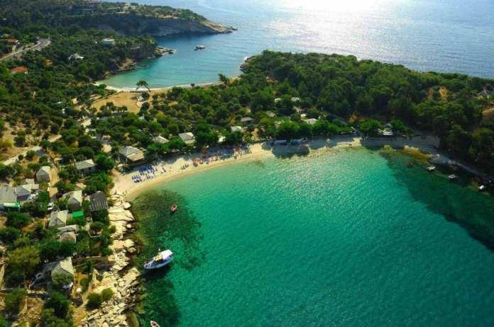Aliki plajı, Thassos adası