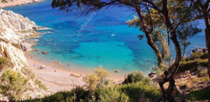 Vroulidia Plajı, Sakız Adası, Yunanistan