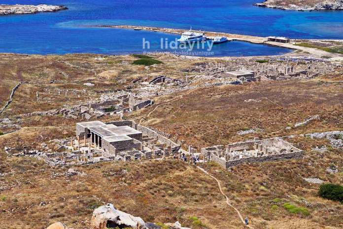 Ancient Delos in Greece