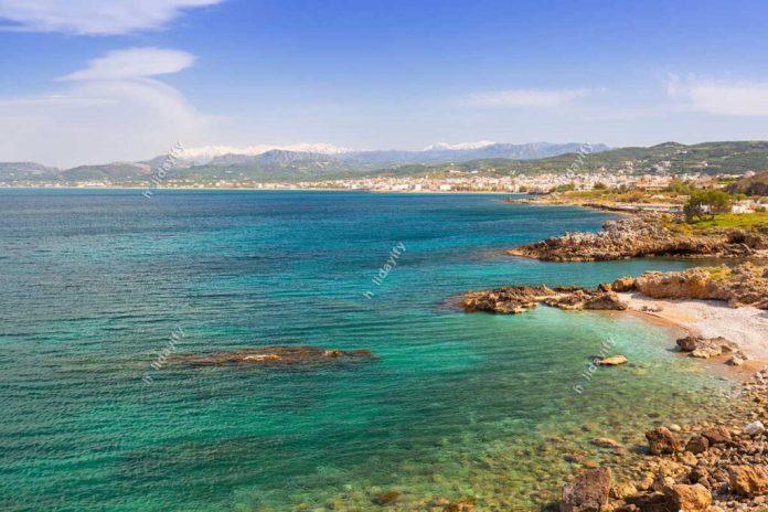 Coastline of Kissamos town on Crete