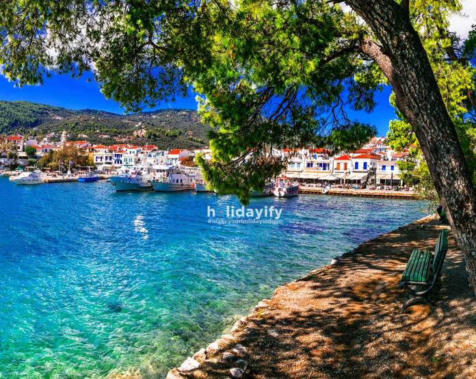 Skiathos Town View, Sporades, Greece