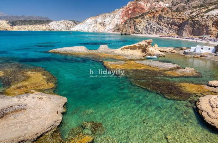Fyriplaka beach, Milos island