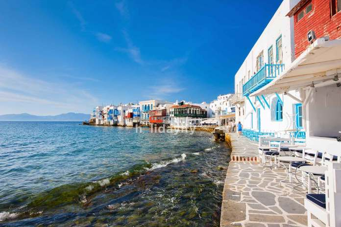 Little Venice on Mykonos island, Greece