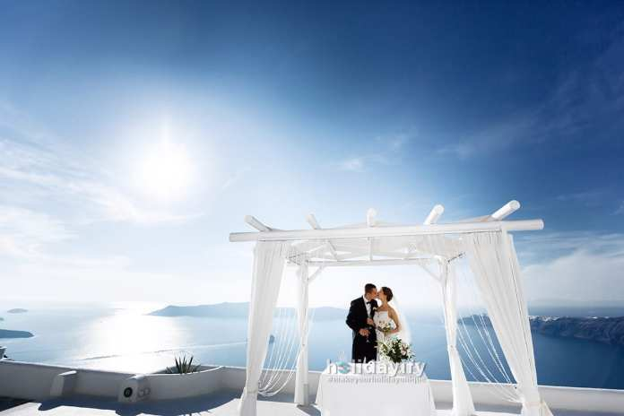 Santorini'de Nikah, Düğün, Balayı