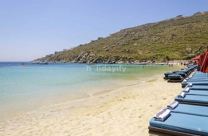 Psarou Beach, Mykonos island