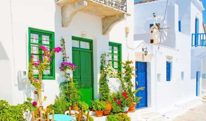 Traditional Cycladic houses in Amorgos