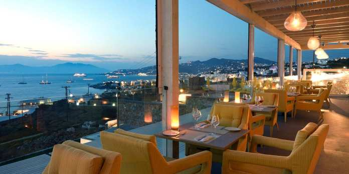 Best restaurants, greek food, wine bar and restaurant with sea view in Mykonos Town.