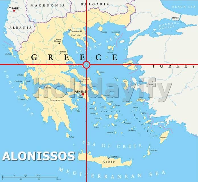 Where is Alonissos Island