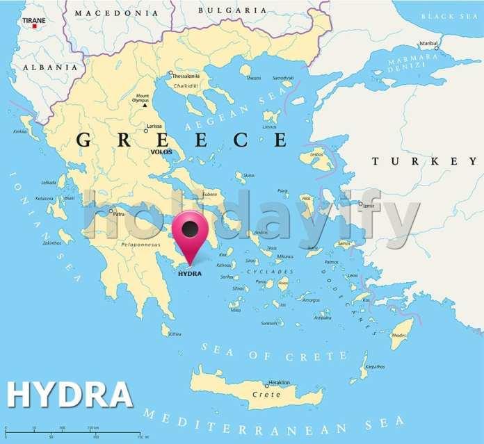 Where is Hydra Greece