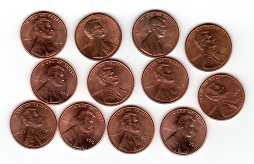 pennies, penny, lsot, day, national