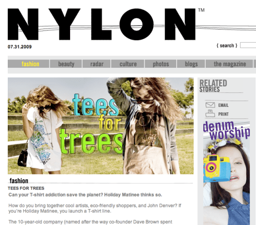 Nylon + Holiday Matinee