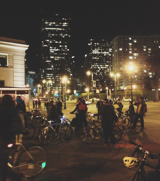 Midnight Mystery Ride in SF