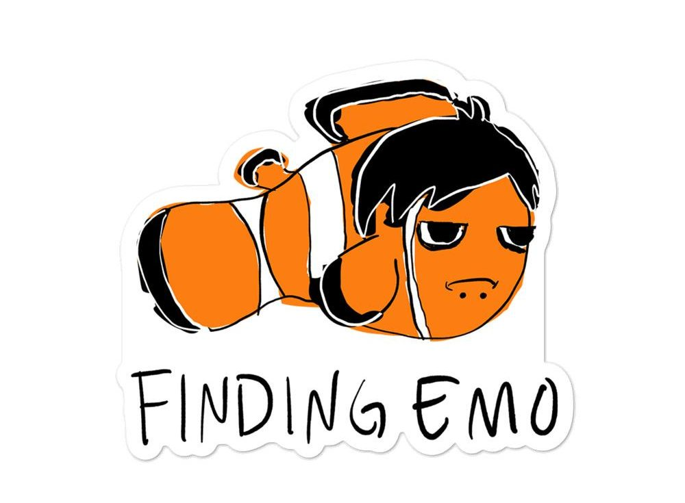 Finding Emo sticker
