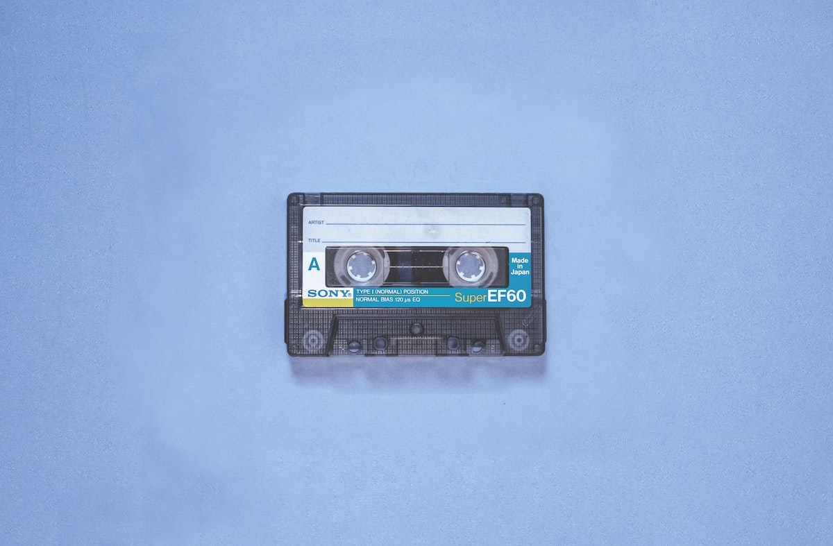 Cassette tape to represent our December 2020 mixtape