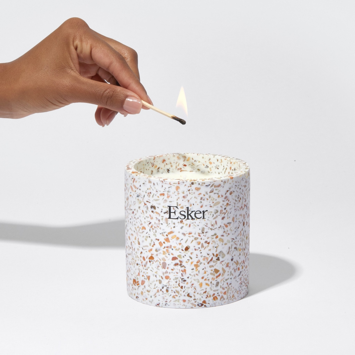 Lighting the plantable candle
