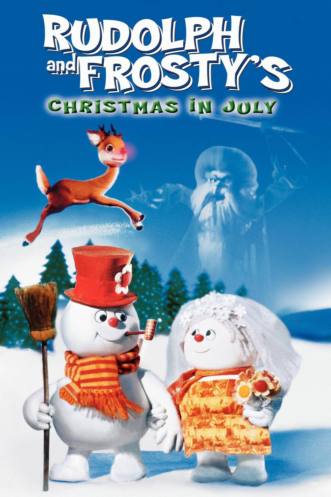 """Poster for the movie """"Rudolph and Frosty's Christmas in July"""""""